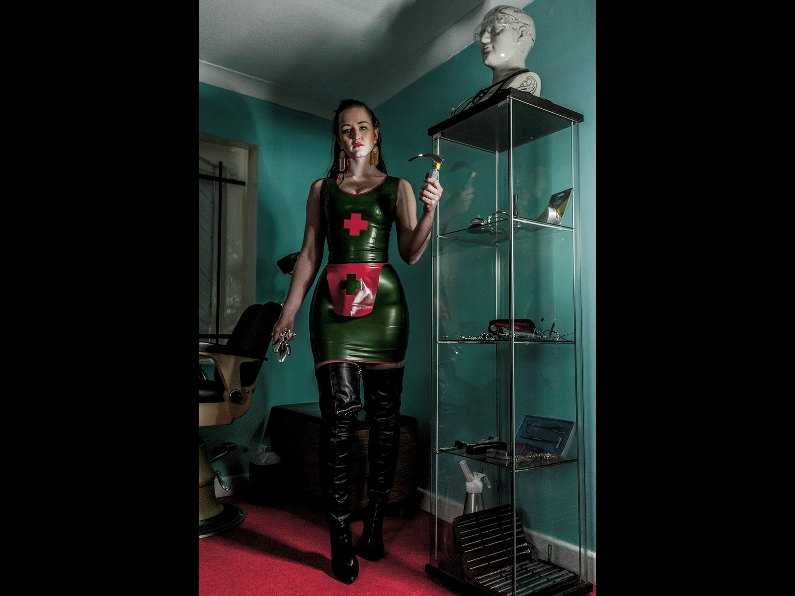 Medical Mistress Fetish BDSM Latex Derby Celestial Studios Dungeon Hire