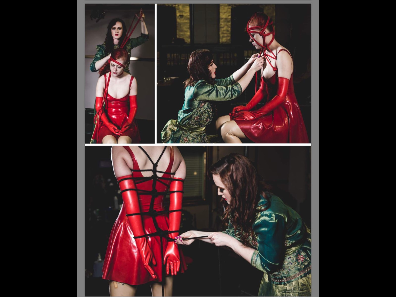 Rope Photoshoot Latex Shibari Slave Girl