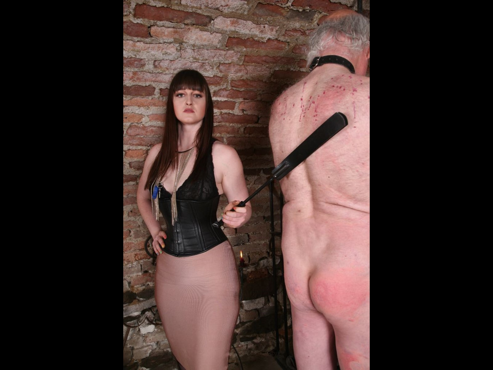 Candle Wax Leather Corset Interrogation OWK Other World Kingdom